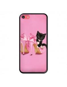 Coque Chaton Chat Noir Kitten Chaussure Shoes pour iPhone 5C - Maryline Cazenave