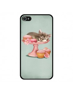 Coque Chaton Chat Kitten Cookies Cupcake pour iPhone 4 et 4S - Maryline Cazenave