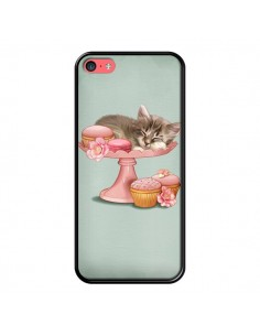 Coque Chaton Chat Kitten Cookies Cupcake pour iPhone 5C - Maryline Cazenave