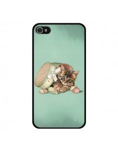 Coque Chaton Chat Kitten Boite Bonbon Candy pour iPhone 4 et 4S - Maryline Cazenave