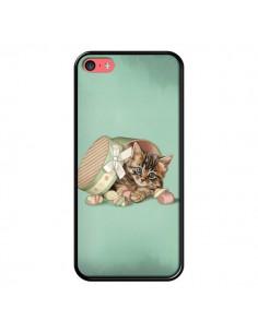 Coque Chaton Chat Kitten Boite Bonbon Candy pour iPhone 5C - Maryline Cazenave