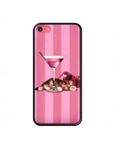 Coque Chaton Chat Kitten Cocktail Lunettes Coeur pour iPhone 5C - Maryline Cazenave