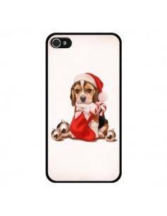 Coque Chien Dog Pere Noel Christmas pour iPhone 4 et 4S - Maryline Cazenave