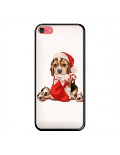 Coque Chien Dog Pere Noel Christmas pour iPhone 5C - Maryline Cazenave