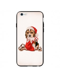 Coque Chien Dog Pere Noel Christmas pour iPhone 6 - Maryline Cazenave