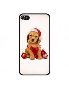 Coque Chien Dog Pere Noel Christmas Boules Sapin pour iPhone 4 et 4S - Maryline Cazenave