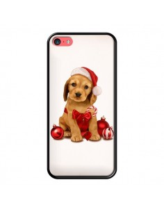 Coque Chien Dog Pere Noel Christmas Boules Sapin pour iPhone 5C - Maryline Cazenave