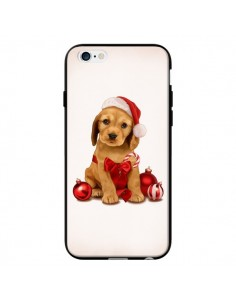 Coque Chien Dog Pere Noel Christmas Boules Sapin pour iPhone 6 - Maryline Cazenave