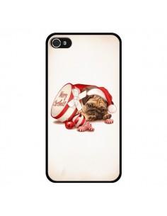 Coque Chien Dog Pere Noel Christmas Boite pour iPhone 4 et 4S - Maryline Cazenave