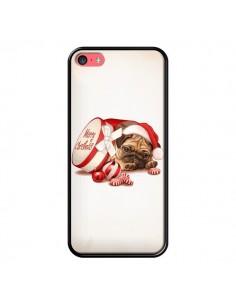 Coque Chien Dog Pere Noel Christmas Boite pour iPhone 5C - Maryline Cazenave