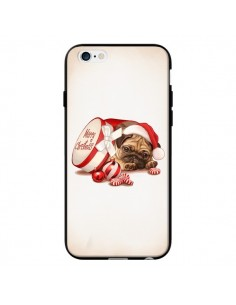 Coque Chien Dog Pere Noel Christmas Boite pour iPhone 6 - Maryline Cazenave