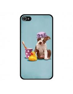 Coque Chien Dog Canard Fille pour iPhone 4 et 4S - Maryline Cazenave
