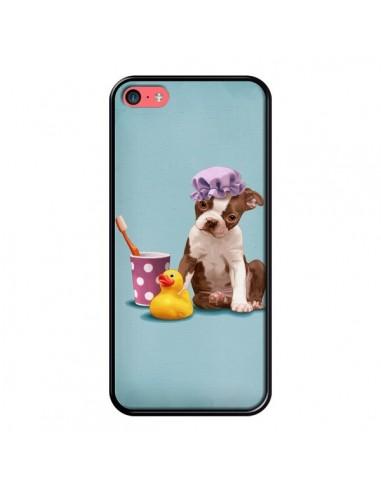 Coque iPhone 5C Chien Dog Canard Fille - Maryline Cazenave