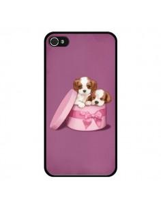 Coque Chien Dog Boite Noeud pour iPhone 4 et 4S - Maryline Cazenave