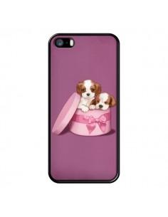 Coque Chien Dog Boite Noeud pour iPhone 5 et 5S - Maryline Cazenave