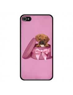 Coque Chien Dog Boite Noeud Triste pour iPhone 4 et 4S - Maryline Cazenave