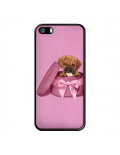 Coque Chien Dog Boite Noeud Triste pour iPhone 5 et 5S - Maryline Cazenave