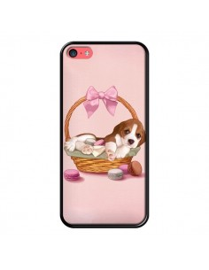 Coque Chien Dog Panier Noeud Papillon Macarons pour iPhone 5C - Maryline Cazenave