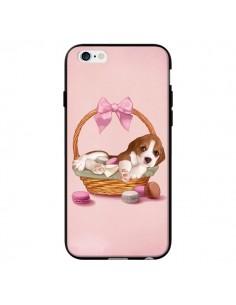 Coque Chien Dog Panier Noeud Papillon Macarons pour iPhone 6 - Maryline Cazenave