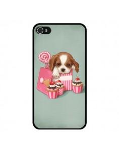 Coque Chien Dog Cupcake Gateau Boite pour iPhone 4 et 4S - Maryline Cazenave