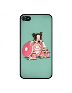 Coque Chien Dog Cupcakes Gateau Boite pour iPhone 4 et 4S - Maryline Cazenave