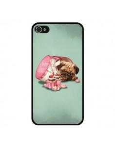 Coque Chien Dog Cupcakes Gateau Bonbon Boite pour iPhone 4 et 4S - Maryline Cazenave
