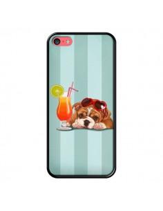 Coque Chien Dog Cocktail Lunettes Coeur pour iPhone 5C - Maryline Cazenave