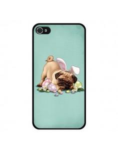 Coque Chien Dog Rabbit Lapin Pâques Easter pour iPhone 4 et 4S - Maryline Cazenave