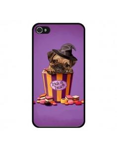 Coque Chien Dog Halloween Sorciere Bonbon pour iPhone 4 et 4S - Maryline Cazenave