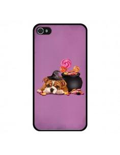 Coque Chien Dog Halloween Sorciere Chaudron Bonbon pour iPhone 4 et 4S - Maryline Cazenave