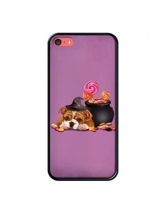 Coque Chien Dog Halloween Sorciere Chaudron Bonbon pour iPhone 5C - Maryline Cazenave