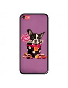 Coque Chien Dog Boite Noeud Papillon Pois Bonbon pour iPhone 5C - Maryline Cazenave