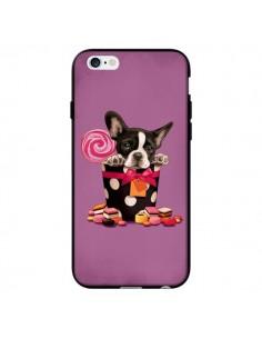 Coque Chien Dog Boite Noeud Papillon Pois Bonbon pour iPhone 6 - Maryline Cazenave