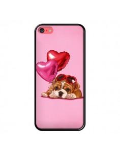Coque Chien Dog Lunettes Coeur Ballon pour iPhone 5C - Maryline Cazenave