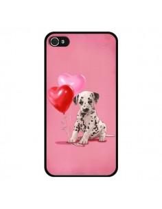 Coque Chien Dog Dalmatien Ballon Coeur pour iPhone 4 et 4S - Maryline Cazenave