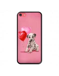 Coque Chien Dog Dalmatien Ballon Coeur pour iPhone 5C - Maryline Cazenave