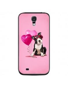 Coque Chien Dog Ballon Lunettes Coeur Rose pour Samsung Galaxy S4 - Maryline Cazenave