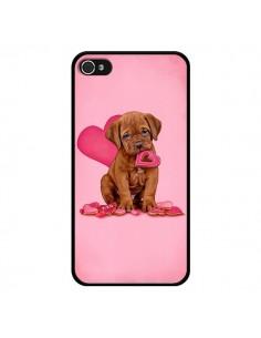 Coque Chien Dog Gateau Coeur Love pour iPhone 4 et 4S - Maryline Cazenave