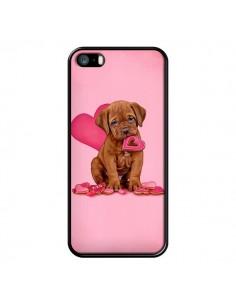 Coque Chien Dog Gateau Coeur Love pour iPhone 5 et 5S - Maryline Cazenave