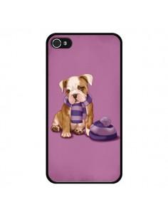 Coque Chien Dog Echarpe Bonnet Froid Hiver pour iPhone 4 et 4S - Maryline Cazenave