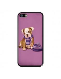 Coque Chien Dog Echarpe Bonnet Froid Hiver pour iPhone 5 et 5S - Maryline Cazenave