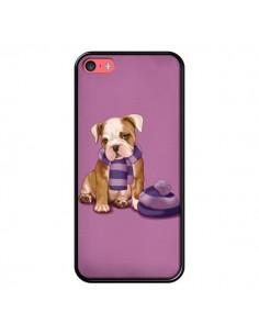 Coque Chien Dog Echarpe Bonnet Froid Hiver pour iPhone 5C - Maryline Cazenave