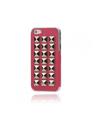 Coque Rock'n'Roll Cuir Cloutée pour iPhone 5