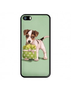 Coque Chien Dog Shopping Sac Pois Vert pour iPhone 5 et 5S - Maryline Cazenave