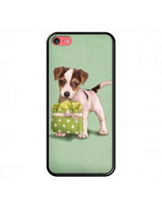 Coque Chien Dog Shopping Sac Pois Vert pour iPhone 5C - Maryline Cazenave