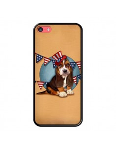 Coque Chien Dog USA Americain pour iPhone 5C - Maryline Cazenave