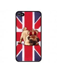 Coque Chien Dog Anglais UK British Queen King Roi Reine pour iPhone 4 et 4S - Maryline Cazenave