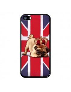 Coque Chien Dog Anglais UK British Queen King Roi Reine pour iPhone 5 et 5S - Maryline Cazenave