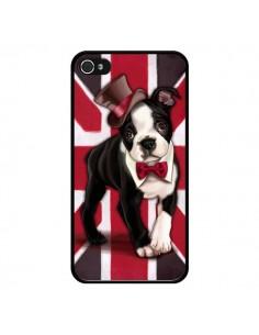 Coque Chien Dog Anglais UK British Gentleman pour iPhone 4 et 4S - Maryline Cazenave