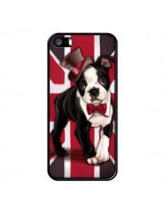 Coque Chien Dog Anglais UK British Gentleman pour iPhone 5 et 5S - Maryline Cazenave